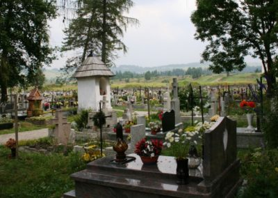 Cemetery with view